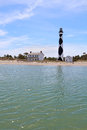 Cape Lookout lighthouse on the Southern Outer Banks of North Car Royalty Free Stock Photo