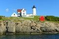 Cape neddick lighthouse old york village maine nubble at usa Stock Image