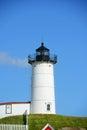 Cape neddick lighthouse old york village maine nubble at usa Royalty Free Stock Photography