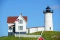 Cape neddick lighthouse old york village maine nubble at usa Stock Photos