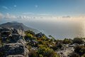 Cape point from the top of table mountain a beautiful sunset taken in town south africa Stock Photography