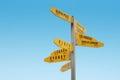 Cape Reinga Signpost, New Zealand Royalty Free Stock Photo