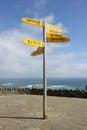 Cape Reinga Signpost Royalty Free Stock Photo