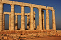 Cape Sounion temple Stock Photo