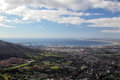 Cape town aerial view of south africa Royalty Free Stock Photo