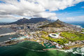 Cape Town and the 12 Apostels from above Royalty Free Stock Photo