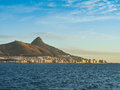Cape town harbour from sea Royalty Free Stock Photography