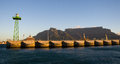 Cape Town Harbour and Table Mountain, South Africa Royalty Free Stock Photo