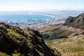 Cape town harbour view a of from table mountain Royalty Free Stock Photography