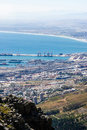 Cape town harbour a view of from table mountain Royalty Free Stock Image