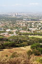 Cape Town suburbs - aerial view Stock Images