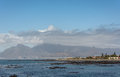 Cape Town and Table Mountain as seen from Robben Island Royalty Free Stock Photo