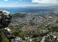 Cape town view on south africa from the top of table mountain Stock Photography