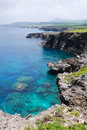 Cape umahana in yonaguni island japan western border of it s a part of okinawa Royalty Free Stock Image