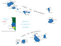 Cape verde islands map highly detailed vector of with administrative regions main cities and roads Stock Photo