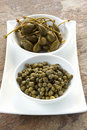 Capers and Caper Berries Royalty Free Stock Images