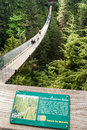 Capilano Suspension Bridge over Capilano River, Vancouver Royalty Free Stock Photo