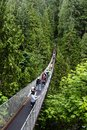 Capilano Suspension Bridge in Vancouver Royalty Free Stock Photo