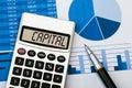 Capital on calculator
