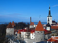 Capital estonien paysage de tallinn Images stock