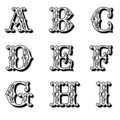 Capital Flower Letters 1 Stock Image