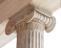 Capital of Greek neoclassical ionic column Royalty Free Stock Photo