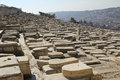 The capital of Israel - Jerusalem. The ancient Jewish cemetery o Royalty Free Stock Photos