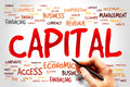 Capital word cloud business concept Stock Photo