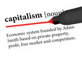 Capitalism eps vector of dictionary definition of Royalty Free Stock Photos
