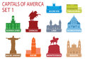 Capitals of America Royalty Free Stock Images