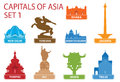 Capitals of Asia Stock Photography
