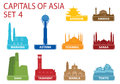 Capitals of Asia Royalty Free Stock Images