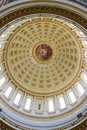 Capitol building interior in madison wisconsin of the dome the Royalty Free Stock Photo
