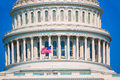 Capitol building Washington DC american flag USA Royalty Free Stock Photo
