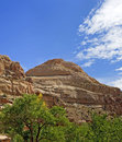 Capitol dome capitol reef national park panoramic view of the in utah Royalty Free Stock Photos