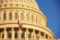 Capitol hill washington dc on warm sunny day Royalty Free Stock Photography