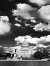 Capitol hill washington dramatic black white sky Royalty Free Stock Photos
