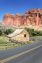 Capitol Reef road Royalty Free Stock Images
