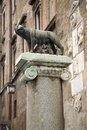 The capitoline wolf the famous etruscan statue on column near roman forum rome italy europe Stock Photos