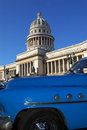 Capitolio view at havana, Cuba Royalty Free Stock Images