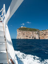 Capo caccia seascape of with lighthouse tower Royalty Free Stock Photos
