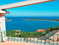 Capo coda cavallo seen terrace Royalty Free Stock Image