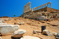 Capo Sounion Fotografie Stock