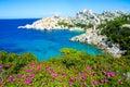 Capo testa beautiful coast of sardinia beach in italy Royalty Free Stock Image