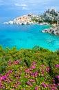 Capo testa beautiful coast of sardinia beach in italy Stock Photography