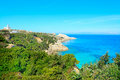 Capo Testa coastline on a clear summer day Royalty Free Stock Photo