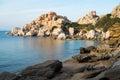 Capo testa rock formations at sunset in santa teresa di gallura sardinia italy Royalty Free Stock Photos