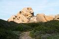 Capo testa rock formations at sunset in santa teresa di gallura sardinia italy Stock Photo