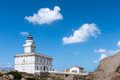 CAPO TESTA, SARDINIA/ITALY - MAY 21 : The Lighthouse at Capo Tes Royalty Free Stock Photo