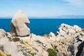 Capo testa trekking along the coast in santa teresa di gallura sardinia italy Stock Photography